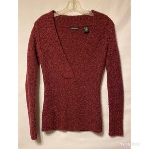 Modo Extra Small Raspberry Pullover V-Neck Sweater
